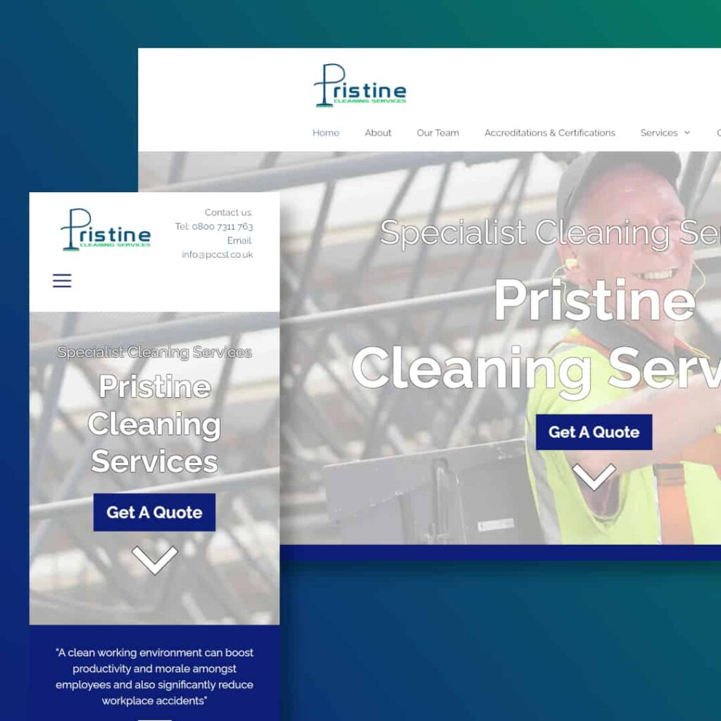 Pristine Website Example